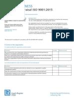 SB EMS Questionnaire 9001