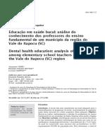 03_Educacao Em Saude Bucal Analise Do Conhecimento Dos Professores Do Ensino Fundamental de Um