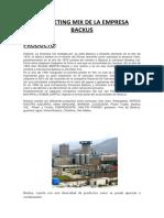 Marketing Mix de La Empresa Backus