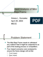 Ariana-Finite Element Analysis of Mini Baja Frame
