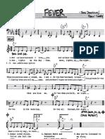Fever - Vocal Lead Sheet