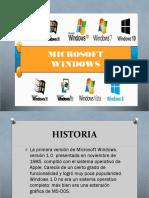Microsoft Windows Diapos