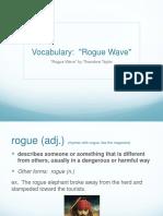 vocabulary rogue wave