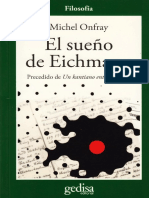El Sueño de Eichmann - Michel Onfray