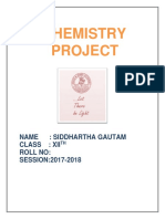 Chemistry class 12 project adulteration of food materials