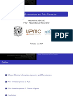 Market Microstructure and Price Formation - Mauricio Labadie