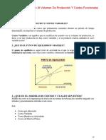 Costos de Acuerdo Al Volumen de Producción Y Costos Funcionales