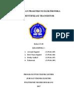 Lt 2e.kelompok 2.Percobaan 6 - Identifikasi Transistor