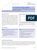 Employment Effects of Green Energy Policies
