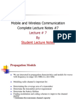 Mobile and Wireless Communication Complete Lecture Notes #7