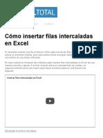 Cómo Insertar Filas Intercaladas en Excel - Excel Total