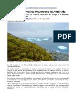 El cambio climático reverdece la Antártida