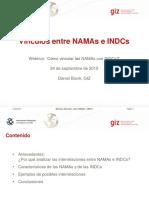 PPT - GIZ, 2015 - Vínculos Entre NAMAs e INDCs