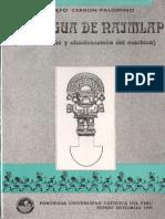 La lengua de Naimlap (reconstrucción y obsolescencia del mochica) de Rodolfo Cerrón Palomino