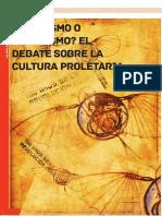 2017 Marxismo o Populismo El Debate Sobre La Cultura Proletaria