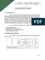 Analyse Béton Frais
