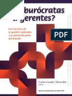 Losada Carlos - De burócratas a gerentes - BID