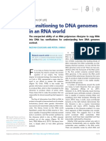 2017 - Transitioning to DNA Genomes in an RNA World