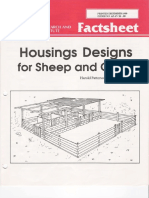 Housing Designs for Sheep and Goat