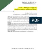 Sánchez González - Origen y desarrollo del estudio de la administración pública en México