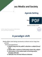 Mass Media and Society - Agenda Setting