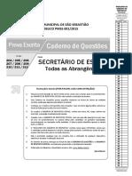 1 PROVA Shdias-2015-Secretario Escola