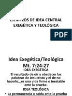 Ejemplos de Idea Central Exegética y Teológica