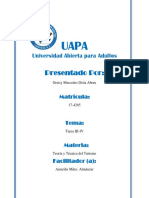 Teoría y Técnica Del Turismo-UAPA-Tarea III-IV