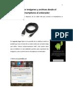 Trasladar Imágenes y Archivos Desde El Smartphone Al Ordenador