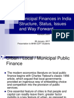 T20. Municipal Finance - Structure, Status, Issues and Way Forward