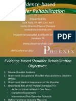 Evidenced Based Shoulder Rehabiliation- Scott Toale