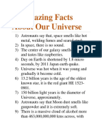 11 Amazing Facts About Our Universe