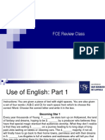 Fce Review Week 7