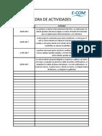 Bitacora de Actividades San Juan Del Rio
