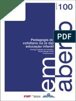 Revista Em Aberto - Pedagogia Do Cotidiano Na Educação Infantil