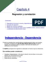 Capitulo 4 - Correlacion y Regresion