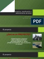Gerencia de Proyectos Planificacion y Administracion de Obras