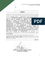Sg 101 2018 Invitacion Ayuntamientos y Diputados Guanajuato PAN