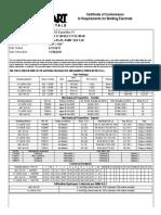 Certificado de Cumplimiento Alambre 0.062