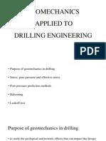 Geomechanics Applied to Drilling Engineering