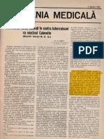 1928 - Romania Medicala - Dr Nasta - Vaccinarea Noilor Nascuti in Contra Tuberculozei Cu Vaccinul Calmette