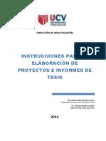Instrucciones Para Elaborar Proyecto y Tesis SOLO REFERENCIAL
