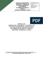 Manual de Inspeccion Vigilancia Control en Plantas de Beneficio de Animales de Abasto Publico Invima PM02-IVC-M3 2009