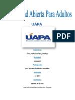 Etica Profesional Del Psicologo Tarea#3