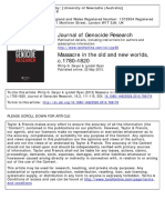 Massacre in the Old and New Worlds Journal of Genocide Research, Volume 15, Issue 2, 2013