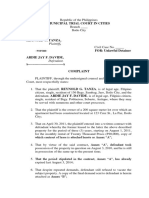 1. Complaint for Ejectment (Sample)