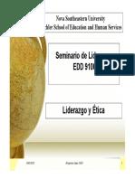 Sesion 5- EDD9100-Liderazgo y Etica