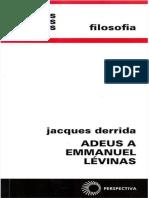 (1997a) Derrida - Adeus a Emmanuel Lévinas