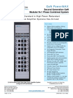 Paradise Datacom Indoor PowerMAX GAN SSPA System Data Sheet