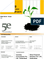 5e Consulting's Overview - Scope Water Sector India